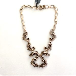 Jcrew antique gold finish statement necklace